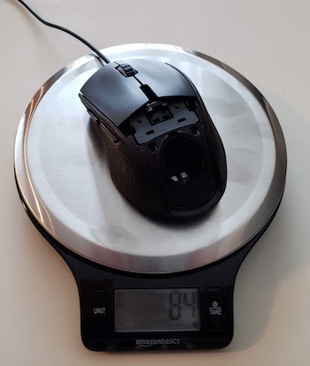 Average weight for the Minos X5 mouse